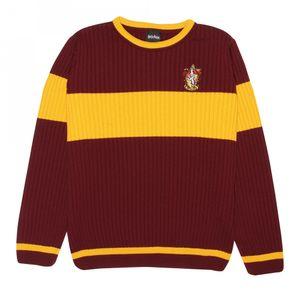 Harry Potter - Gryffindor Pullover für Damen PG824 (XL) (Burgunderrot/Gelb)