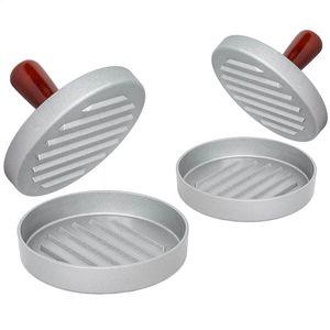tectake 2 Burgerpressen einzeln - braun/silber