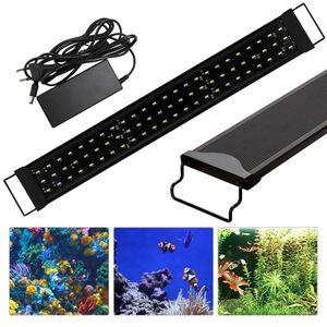 EINFEBEN LED Aquarium Beleuchtung Aufsetzleuchte Aufsetzleuchte Lampe Wei?+Blau 70-100cm
