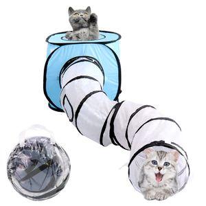 S-förmiger Katzentunnel Katzenspielzeug zusammenklappbarer Katzentunnel