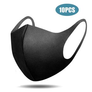 10pcs Baumwolle Gesichtsmaske Waschbar Mundmaske Mundschutz Maske Wiederverwendbar Schutzmaske Mundschutzmasken, Atmungsaktiv und Weich