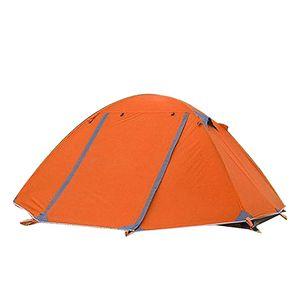 Ultraleicht 2-Personen-Campingzelt mit Tragetasche Orange 115 cm