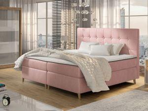Mirjan24 Boxspringbett Avanti, Doppelbett mit zwei Bettkästen, Ehebett mit Matratze (Farbe: Magic Velvet 2257, Größe: 140x200 cm)