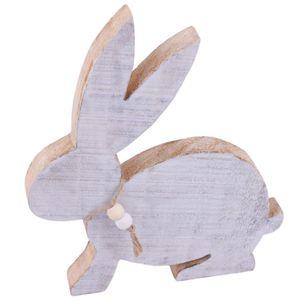 Hase -Maurice- Deko-Figur Holz 20cm weiss