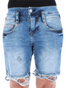 Herrlicher Damen Jeansshort Pitch Slim fit, Farbe:blau, Herrlicher Jeans:W30