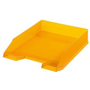 Herlitz Ablagekorb / Briefkorb / Briefablage / Farbe: transluzent orange