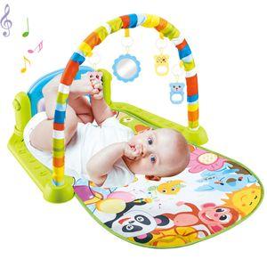 Baby decke Krabbeldecke Spieldecke Spielbogen Erlebnisdecke Spielmatte Gym Musik Decke, Grün