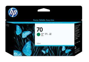 HP 70, Original, Tinte auf Pigmentbasis, Grün, HP, HP Designjet Z2100, Z3100, Z3200 Photo, 130 ml