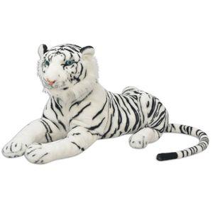 Tiger Plüschtier Weiß XXL - Puppe Geschenk für Kind