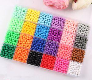 24 Farben Aqua Beads Glitzer Set Basteln Kinder Bastelset Glitzerperlen Perlen