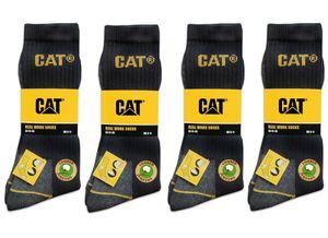 CAT Caterpillar 46-50 Arbeitssocken 12 Paar Schwarz