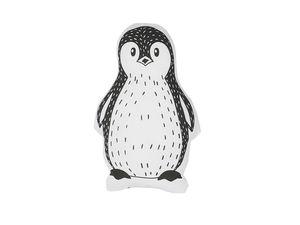 Dekokissen Weiß / Schwarz Baumwolle Tiermotiv Pinguinmotiv 32 x 48 cm Wohnzimmer Kindezimmer