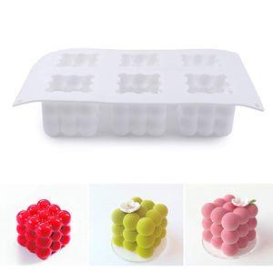 Wachs Kerzenform DIY Seife 3D Silikon Aromatherapie Silikonform 3D Cube Kuchenform Französische Dessertbackform, Weiß