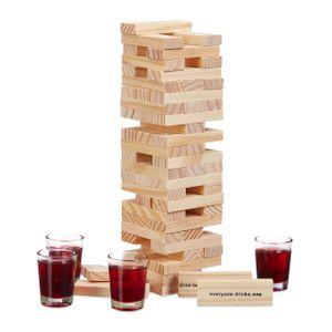 "relaxdays Wackelturm Trinkspiel ""Drunken Tower"""