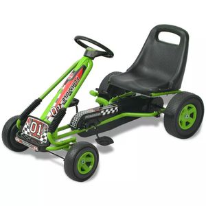 vidaXL Pedal Go-Kart mit verstellbarem Sitz Grün