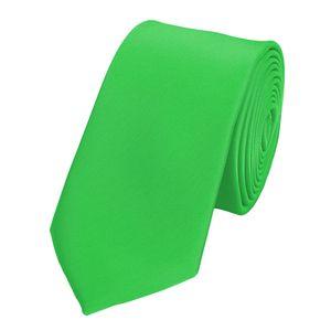 Schlips Krawatte Krawatten Binder Schmal 6cm Hellgrün uni Fabio Farini, Farbe:Grün