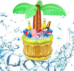 NightyNine Aufblasbarer Getränkekühler - Kokosnussbaum,70X68cm Aufblasbare Palme mit Getränkekühler,Aufblasbarer Palmen-Kühler aus PVC,Aufblasbarer Hawaii Palmen,Aufblasbare Palme,Pool-Kühler für Sommer,Aufblasbarer Kühler