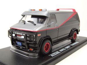 GMC Vandura A-Team Van 1983 TV-Serienmodell grau schwarz Modellauto 1:43 Greenlight Collectibles