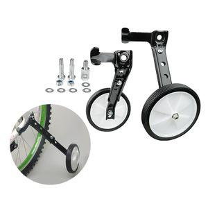 """Solides Trainingsrad Kinderfahrrad Lernstabilisator für 16 \"""" 24\"""" Rad Schwarz Stützräder Durchmesser: 10 cm Training seitliche Hinterräder"""