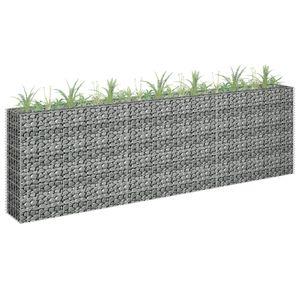 Hochwertigen Gabionen-Hochbeet Gabionen-Pflanzkorb Garten-Hochbeet Verzinkter Stahl 270 x 30 x 90 cm