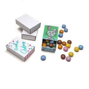 PODARI Streichholzschachteln leer zum Basteln, weiß, blanko, ohne Druck - 10 kleine Schachteln