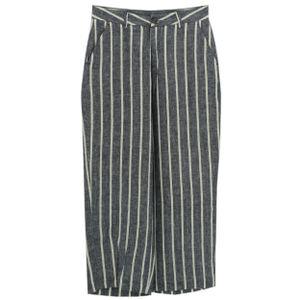 23871 Herrlicher, Starlight,  7/8 Damen Jeans Hose, Leinen, blau-weiß, W 26