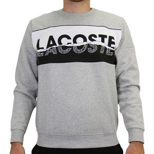 Lacoste Sweatshirt mit grafischem Print Herren Sonstige Pullover Grau (SH4899 SJ1) Größe: XXL