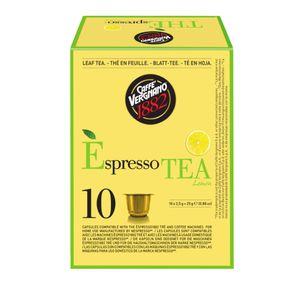 Caffè Vergnano 1882 Èspresso Tea Lemon   10 voll kompostierbare Nespresso® komp. Kapseln