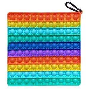 Groß Push Pop It Pop Bubble Spielzeug,Verwendet für Autismus, Stress Abzubauen Braucht zappeln Spielzeug(Quadrat C)