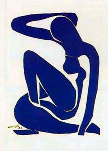 Henri Matisse Poster Kunstdruck - Blauer Akt (70 x 50 cm)