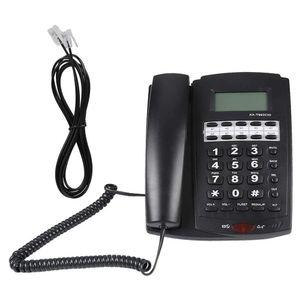Mllaid Schnurgebundenes Desktop-Telefon, 8-Gruppen-Kurzwahl Schnurgebundenes Telefon mit Lautsprecher LCD-Display Wandhalterung Schnurgebundenes Festnetztelefon Anrufbeantworter für Zuhause Büro