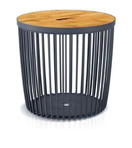 Couchtisch Beistelltisch Tisch Holzplatte Korbtisch Sofatisch Balkonmöbel Kunststoff 35 Liter 38,6 x 35,8 cm