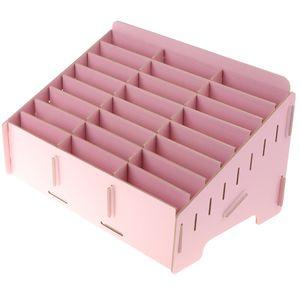 1 Telefon-Aufbewahrungsbox aus Holz Farbe Rosa