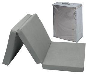 Gästematratze faltbar für Kinder, 60x120 cm, grau