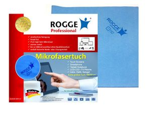 5er Pack - ROGGE Professional Microfasertuch (100% Polyester)   ca.38x40 cm, fuer LCD/TFT/LED+Plasma Displaytuch - Zubehör für: Apple iPhone, iPod, iPad sonsitige Smartphone und SmartPads