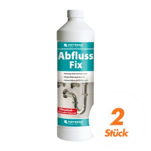 Abfluss Fix 1 L - Abfluss-Reiniger Konzentrat, gegen Rohrverstopfungen - 2 Stück