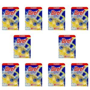 10x Bref Lemon WC Frisch Power Aktiv WC-Hänger Für Toilette 50g