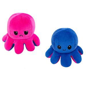 (Stil B - 50cm) Kuscheltiere, Niedliche Oktopus-Plüsch-Spielzeug, Doppelseitig Flip Oktopus-Stofftierpuppe, Kreative Spielzeuggeschenke für Kinder / Mädchen / Jungen / Liebhaber