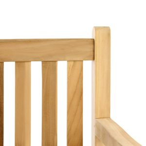 VCM Gartenstuhl Gartensessel Landhaus Teak Holz unbehandelt stilvoll Teak