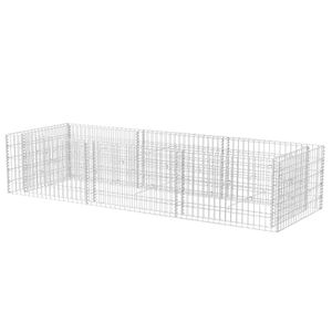 vidaXL Gabionen-Hochbeet Stahl 270×90×50 cm