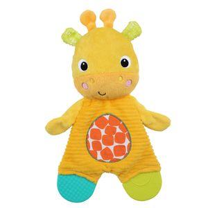 Bright Starts - Snuggle & Teethe - Schmusetuch Giraffe mit Beißelementen
