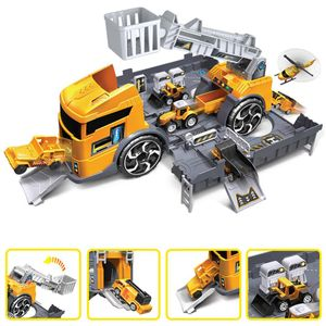 1:24 Kinder Engineering Fahrzeug Set Simulation Parkplatz Kid pädagogisches Spielzeug
