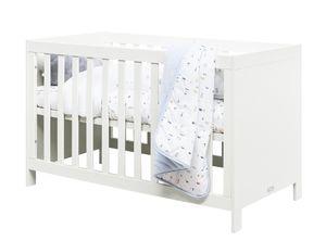 Bopita Babybett Thijn Weiß 60x120cm, Lattenrost höhenverstellbar