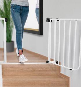 IMPAG® Tür- und Treppenschutzgitter Safe Step  Lava-Anthrazit 93 - 102 cm