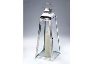 XXL Laterne MARSEILLE aus Glas und Edelstahl mit einem Henkelgriff