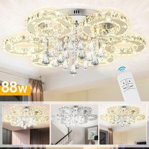 EINFEBEN Kristall Deckenleuchte Deckenlampen Leuchtmittel Wohnzimmerlampe 88W LED Luxus