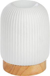 ONVAYA® Duftlampe | Elektrisch | Farbe: Creme weiß | Aroma Diffuser | Aromalampe | Duftstövchen | Modernes Duftlicht | Modell Tommy