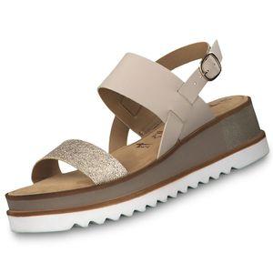 Tamaris Damen Riemchensandale Beige Schuhe, Größe:41