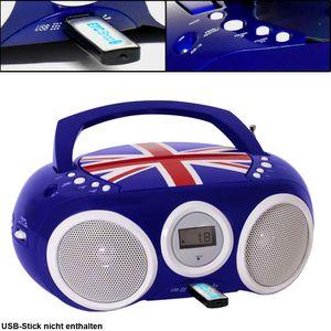 Bigben Interactive - Tragbares CD/Radio CD32 - Union Jack