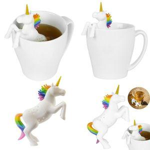 Silikon Teesieb Sieb Infuser Einhorn Tee-Ei Tee-Sieb Strainers Steeper Tee Infuser Filter Beutel